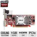 ASUS EAH5450 SILENT/DI/1G Radeon HD 5450 Silent LP Video Card - 1024MB, DDR3, PCI-Express 2.1 (x16), 1x DVI, 1x HDMI, 1x VGA, DirectX 11, Single-Slot, Low Profile