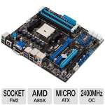 Asus F2A85-M/CSM Socket FM2 Motherboard - MicroATX, Socket FM2, AMD A85X FCH, DDR3 2400(O.C.) MHz, RAID, 8-CH Audio, Gigabit LAN, USB 3.0, PCIe 2.0, Quad-GPU CrossFireX Ready