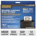 Aleratec 240165 Shredder Lubricant Sheets - 12 Pack