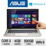 "ASUS VivoBook X202E-DH31T-CA Ultrabook - 3rd generation Intel Core i3-3217U 1.8GHz, 4GB DDR3, 500GB HDD, 11.6"" Touchscreen, Windows 8 64-bit, Silver/Black"