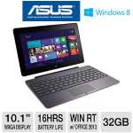 "ASUS TF600 - Nvidia Tegra 3, 2GB DDR3, 32GB Flash (plus Free Cloud Storage), WXGA Super IPS+ 10.1"" Display, Windows 8 RT w/ Office Tablet and Keyboard Docking Station w/ Extended Battery Life Bundle"