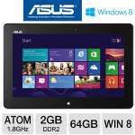 "ASUS ME400C-C1-BK Tablet - Intel Atom Z2760 1.8GHz, 2GB DDR2, 64GB Flash, 10.1"" Touchscreen, Windows 8, Dual Webcam, Black"