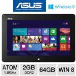 "ASUS ME400C-C1-WH Tablet - Intel Atom Z2760 1.8GHz, 2GB DDR2, 64GB Flash, 10.1"" Touchscreen, Windows 8, Dual Webcam, White"