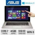 "ASUS TX300CA-DH71 Ultrabook Convertible - 3rd Gen Intel Core i7-3517U 1.9GHz, 4GB DDR3, 500GB HDD + 128GB SSD, Backlit Keyboard, 13.3"" IPS Full HD Detachable TouchScreen, Windows 8 64-bit, Silver"