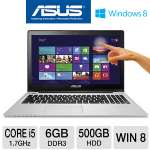 ASUS VivoBook S550CA Ultrabook - 3rd generation Intel Core i5-3317U 1.7GHz, 6gb DDR3, 500GB HDD + 24GB SSD, DVDRW, 15.6&quot; TouchScreen, Windows 8 64-bit (S550CA-DS51T)