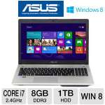 ASUS N56VJ-DH71 Laptop Computer - 3rd generation Intel Core i7-3630QM 2.4GHz, 8GB DDR3, 1TB HDD, DVDRW, 2GB NVIDIA GeForce GT 635M, 15.6&quot; Full HD, Windows 8 64-bit