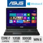"ASUS G75VW-TH71 Gaming Notebook - 3rd gen Intel Core i7-3630QM 2.4GHz, 12GB DDR3, 500GB HDD, Blu-ray/DVDRW, 2GB NVIDIA GTX 660M, 17.3"" Display, Windows 8 64-bit"