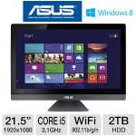 "Asus ET2220IUTI-B019K All-In-One PC - 3rd Gen. Intel Core i5-3330 3.0GHz, 8GB RAM, 1TB HDD, DVDRW, 21.5"" Multi-Touch Display, Windows 8 64-bit, Keyboard & Mouse"