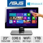"Asus ET2300INTI-B022K All-In-One PC - 3rd Gen. Intel Core i5-3330 3.0GHz, 8GB RAM, 1TB HDD, DVDRW, 23"" Display, NVIDIA GeForce GT 630M, Windows 8 64-bit, Keyboard & Mouse"
