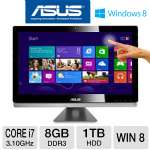 "Asus ET2701INTI-B053K All-In-One PC - 3rd Gen. Intel Core i7-3770S 3.10GHz, 8GB RAM, 1TB HDD, Blu-ray, 27"" Display, NVIDIA GeForce GT 640M, Windows 8 64-bit, Keyboard & Mouse"