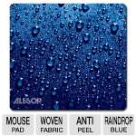 Naturesmart 30182 Soft Top Raindrop Mouse Pad - Blue