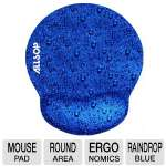 ALLSOP Ergo Memory Foam Mouse Pad - Raindrop Blue