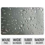 Allsop Widescreen Mouse Pad - Silver Raindrop