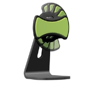 Clingo 30262 Universal Podium Cell Phone Dock - Multi-Axis Joint, Black/Green