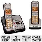 AT&T ATT-EL52200 DECT 6.0 Dual Handset Phone - 1.9GHz, Caller ID, Call Waiting, 14 Minute Digital Answering System, LCD Display, Lighted Keypad, Last 20 Number Redial