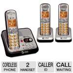 AT&T ATT-EL52300 DECT 6.0 Triple Handset Phone - 1.9GHz, Caller ID, Call Waiting, 14 Minute Digital Answering System, LCD Display, Lighted Keypad, Last 5 Number Redial