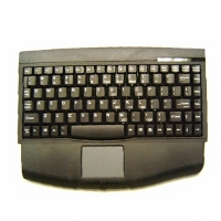 The Mini-Touch keyboard combines the control of an integrated touchpad with the features of a standard keyboard.