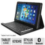 Adesso WKB-1000SB Compagno 3S Bluetooth Keyboard and Case - For Samsung Slate XE700T1A Tablet PC, Stylus Holder, Built-in Stand