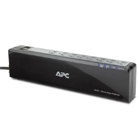 APC P8V Audio/Video Surge Protector - 8 Outlet, 120V, Coax Protection