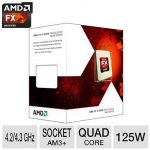 AMD FX-Series FX-4350 Processor - 4.2/4.3 GHz, 4MB L2 Cache, 8MB L3 Cache, Socket AM3+, 125W, 32nm SOI  - FD4350FRHKBOX