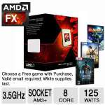 AMD FX-8320 Eight-Core 3.5GHz AM3+ Processor - AM3+, Eight-Core, 3.5GHz, 16MB, 125W, Unlocked - FD8320FRHKBOX