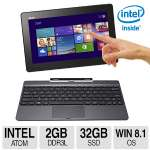 "ASUS Transformer Book T100TAM 10.1"" Quad-Core 2-In-One Notebook - Intel Atom Z3775 1.46GHz Quad-Core, 2GB DDR3, 32GB SSD, 10.1"" HD Display, Windows 8.1 + 1 Year Office 365 Personal - T100TAM-DH11T-CA"