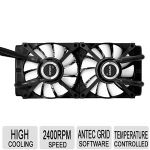 Antec H20 1250 CPU Liquid Cooler -2x 120mm Fan,  Temperature Controlled LED, Antec Grid Software, High Cooling - K HLER H2O 1250