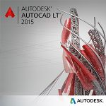 Autodesk AutoCAD LT 2015 Commercial  - New, Single License Media,