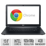 "Acer 15.6"" Chromebook - Intel Core i3 5005U Processor, 4GB RAM Memory(Soldered), 32GB SSD Storage, 2GHz Dual-Core, Intel HD Graphics 5500, Integrated Webcam, LED Backlight - NX.EF3AA.010"
