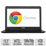 "ASUS 13.3"" C300MA Chromebook - Intel Celeron N2830 Processor, 4GB RAM, 16GB SSD Storage, 2.16GHz Dual-Core, Intel HD Graphics, Integrated Webcam, Multi-touch Touchpad, LED Backlight - 90NB05W1-M00530"