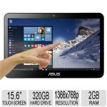 "Asus 15.6"" All-in-One PC - Intel Celeron J1900 Processor, 2GB RAM, 320GB HDD Storage, Quad-Core, 6 in 1 Card Reader, Intel HD Graphics, 1366x768 Resolution, HDMI, Microphone - ET1620IUTT-B1"
