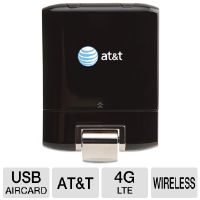 AT&T USBConnect Momentum 4G 65256 Aircard - 4G LTE/HSPA, GPS Capability, Expandable Memory, USB, Plug & Play