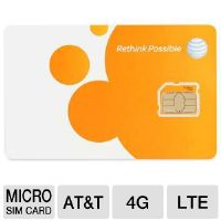 AT&T Micro-SIM Card - 3FF, 3G, 4G, LTE, UICC-F (40954)