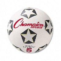 "Champion Sports SRB5 Soccer Ball -  Rubber/Nylon, 6"", White/Black"