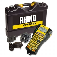 Rhino 5200 Industrial Label Maker Kit, 5 Lines, 6-1/10w x 11-2/9d x 3-1/2h
