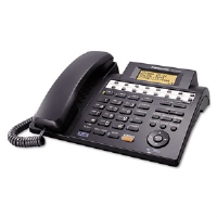Panasonic KX-TS4300B Integrated Phone System, Corded, Four Lines, Black