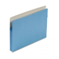1 3/4 Inch Expansion Colored File Pocket, Straight Tab, Letter, Blue, 25/Box