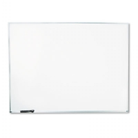 Dry-Erase Board, Melamine, 48 x 36, White, Satin-Finished Aluminum Frame