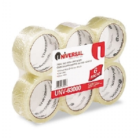 "Box Sealing Tape, 2"" x 55 yards, 3"" Core, Clear, 6/Box"