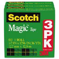 "Magic Tape Refill, 1/2"" x 1296"", 3/Pack"