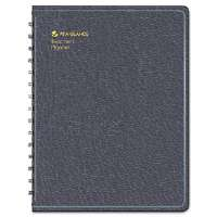 "Recycled Undated Teacher's Planner,Black, 8 1/4"" x 10 7/8"""