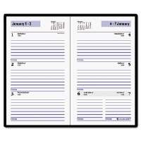 "Recycled Weekly Planner, Black, 3 1/2"" x 6 3/16"", 2013"