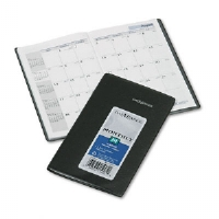 "Recycled Monthly Planner, Black, 3 5/8"" x 6 3/16"", 2012-2014"