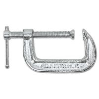 "Light Duty C Clamp, 2"", Iron, Silver"