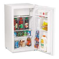 3.4 Cu. Ft. Refrigerator with Can Dispenser and Door Bins, White