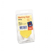 Marking Tags, Paper, 2 3/4 x 1 11/16, Yellow, 100/Pack