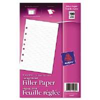 Mini Binder Filler Paper, 5-1/2 x 8-1/2, 7-Hole Punch, College Rule, 100 Sheets