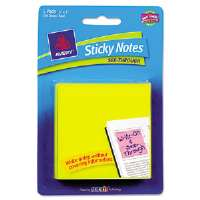 See-Through Sticky Notes, 3 x 3, 50 Sheets, Yellow, 5/Pack