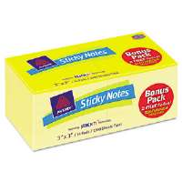 Flat Sticky Notes, 3 x 3, 12 Yellow, 2 Free Yellow See-Through, 100 Sheets Each