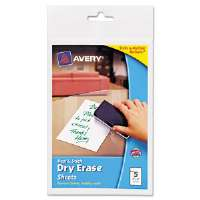 Peel & Stick Dry Erase Sheets, 4x6, White, 5/Pack